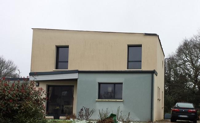 Toiture d'une maison arrachée à Quimper