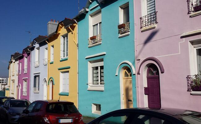Les façades colorées à Brest